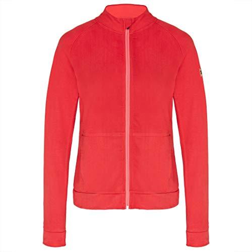 TAO Couletto Sportswear Damen Freizeitjacke aus Bio Baumwolle (KBA), GOTS Zertifiziert NADA Rubin 36