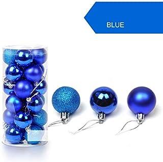 YANLINGEGE Bola de Navidad 24Pcs / Lot 30Mm Christmas Tree Decor Ball Bauble Hanging Xmas Party Ornament Feliz Navidad Decoraciones para Home Ball