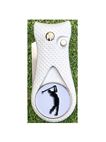 Greater Golf Goods Switchblade Divot Repair Tool with Magnetic Logo Ball Marker