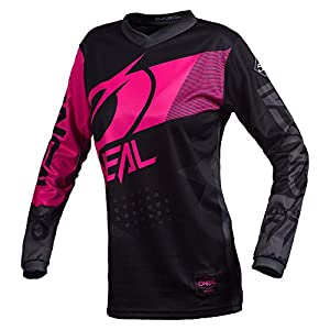 Cycling Jerseys O'Neal Element Jersey Factor Women black/pink Size XL 2020 Bike Jersey Longsleeve [tag]