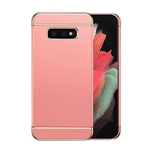 Funda Samsung S10e Case,Fundas Samsung Galaxy S10e Antigolpes Carcasa Diseño Minimalista Estuche Rígido Ultra Original Delgado de PC a Prueba (Samsung s10e, Oro Rosa)
