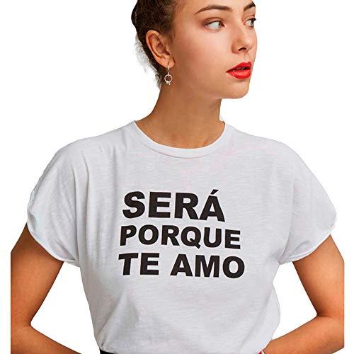 Dolores Promesas PV19 1009BLANCO Camiseta, Blanco (Blanco 00), Medium (Tamaño del Fabricante:M) para Mujer