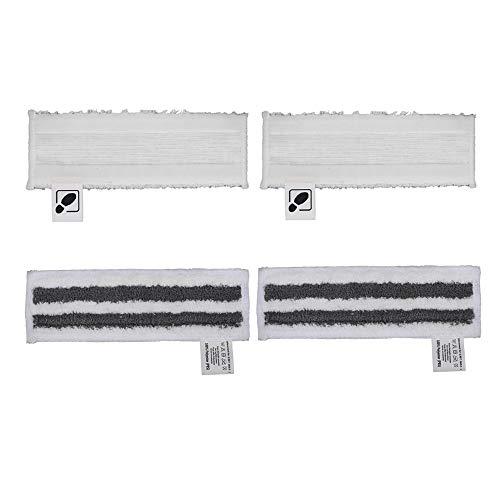 DEYF 2 weißes Mikrofaser-Bodentuch-Set + 2 graues Mikrofaser-Schleifboden-Set für Kärcher EasyFix SC2 SC3 SC4 SC5-Bodendüse 4,5 €/Stück