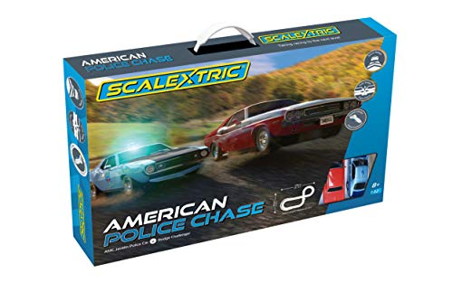 Scalextric C1405 American Police Chase (AMC Javelin v Dodge Challenger)
