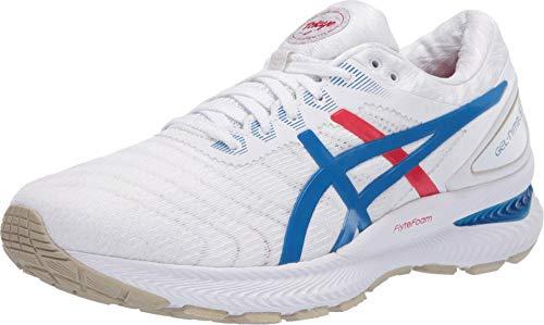 Asics Damen-Laufschuhe Gel-Nimbus 22, Weiß (Weiß/Electric Blue/Red), 42.5 EU