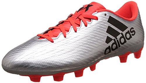 adidas X 16.4 FxG, Botas de fútbol para Hombre, Plata (Plamet/Negbas/Rojsol), 43 1/3 EU