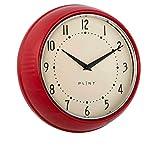 Vintage Home Plint - Reloj de pared retro, para la cocina, diseño danés, metal, color rojo