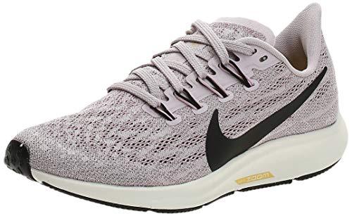 Nike Women's Air Zoom Pegasus 36 Running Shoe, Platinum Violet Black Plum Chalk Sail, 3.5 UK