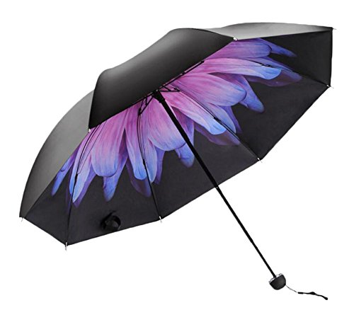 Black Temptation Voyage léger Anti UV Parasol Rain Umbrella