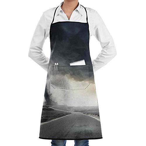 alice-shop Black Tornado Trichter Gas Küchenschürze, Kellner oder Kellner, 1 Taschen, Schwarz, Küche Kochen, Basteln, Crafting Restaurant Crafting Küchenschürze