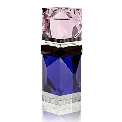 Reflections Copenhagen - Miami - Teelichtständer, Kerzenleuchter, Kerzenständer - Kristallglas - Klar, Schwarz, Blau, Rosa - (LxBxH): 8 x 8 x 19,8 cm
