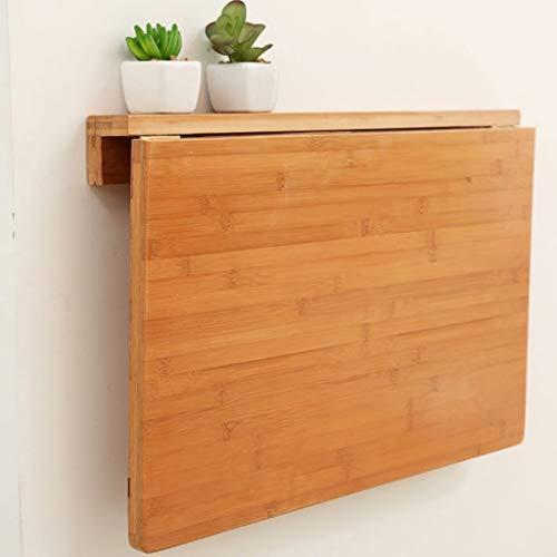Giow Mesa Plegable de Pared Mesa de Comedor Mesa de Estudio Escritorio de computadora Bambu (Color: Color de bambu Original, Tamano: 100 * 45 cm)