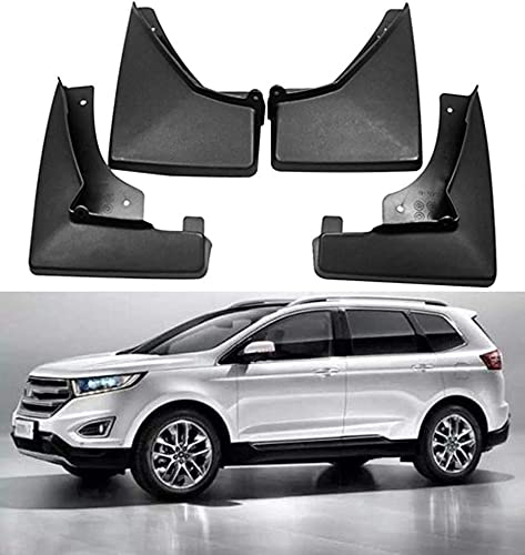 4 Piezas Car Guardabarros para Ford Edge 2010-2011,2012-2014,2015-2019,2020, Duradero Guardabarros Delantero Trasero Car Protección Accessories