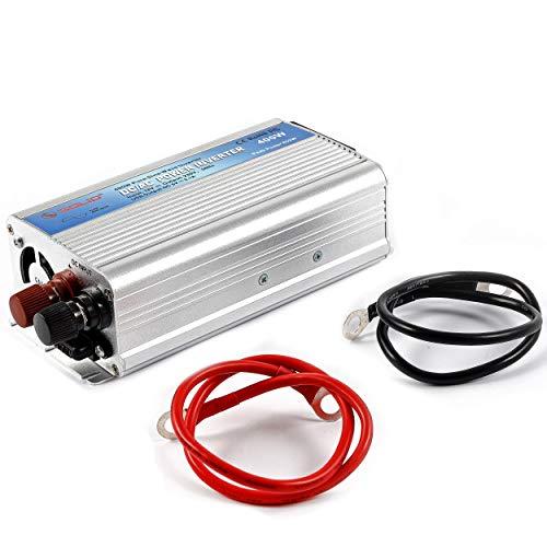 Hochwertiger Sinus Wechselrichter 12 Volt DC auf 230 Volt AC - Echte Sinuswelle - Nennleistung 400 Watt - mit USB-Anschluss und Steckdose - Spannungswandler Camping KFZ Inverter - esotec 140050