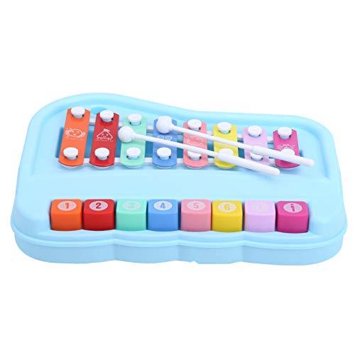 Baby Musik Klavierspielzeug, 2 in 1 Baby Klavier 8 Skala Kinder Xylophon mit Schlägeln Klavier lernen Spielzeug Musik Pädagogisches Lernen Kinder Musikinstrumente(Blau)