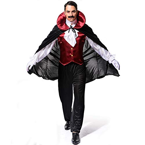 SEA HARE Costume da Vampiro Gotico Medievale per Uomo Adulto