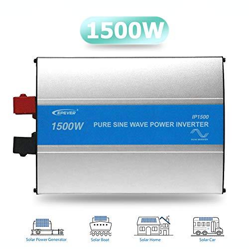 EPEVER® 1500W Hochfrequenz Sinus Wechselrichter DC 12V zu AC 220V/230V Wechselrichter für Fahrzeugmontiertes System und Kleines Feldnetzteil usw - 1500W