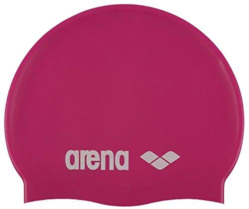 arena Kinder Unisex Wettkampf Badekappe Classic Silikon Junior (Verstärkter Rand, Weniger Verrutschen), Fuxia-White (91), One Size