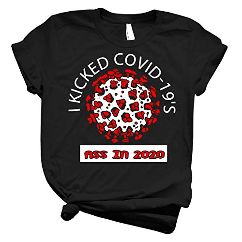 I Kicked Cóvid-19 Ass In 2020 - Cool Córonavirus Survivor - Awesome Blue Version Pandemic Remembrance Slim Fit T-Shirt Customize T-Shirt