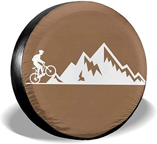 Zhung Ree Mountain Bike Heartbeat Waterproof Spare Tire Cover Fits for Trailer RV SUV Truck Camper Travel Trailer Accessories,15 Inch