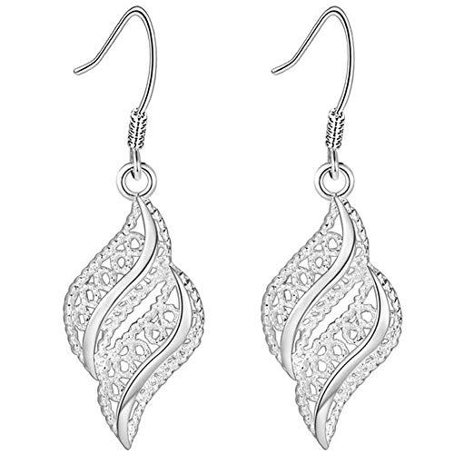 1 Paar Art Und Weise Elegante Frauen S Ohrringe Glänzende Tropfen-entwurf-lange Hängende Ohrringe Modeschmuck Geschenk Für Frauen Silber