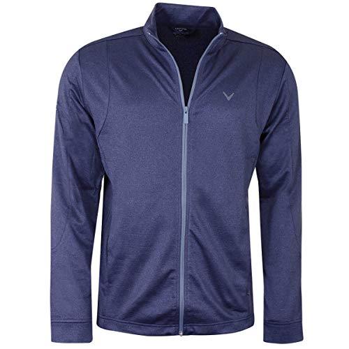 Callaway Herren Full Zip Waffel mit Taschen Pullover - Peacoat Heidekraut - XL