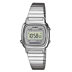 Casio Orologio Digitale Donna con Cinturino in Acciaio Inox LA670WEA-7EF