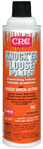 CRC 03027 Knock'Er Loose Plus Penetrating Solvent, (Net Weight:11.5 oz.) 20oz Aerosol,Reddish