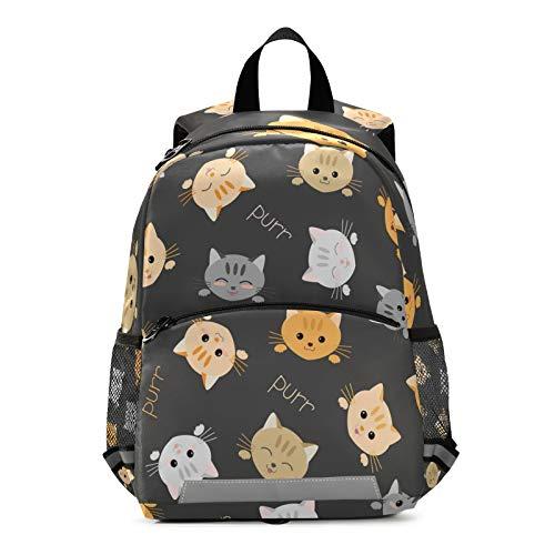 Mnsruu Mochila para niños, linda bolsa de escuela de gatito para jardín de infantes, bolsa de viaje para niños pequeños