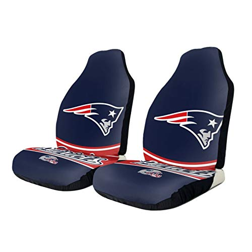 Stockdale New England Patriots Car Seat Cover 2 pcs,American Football Design Front Seats Covers Universal fit for Sedan Truck Van SUV Auto,Easy Install
