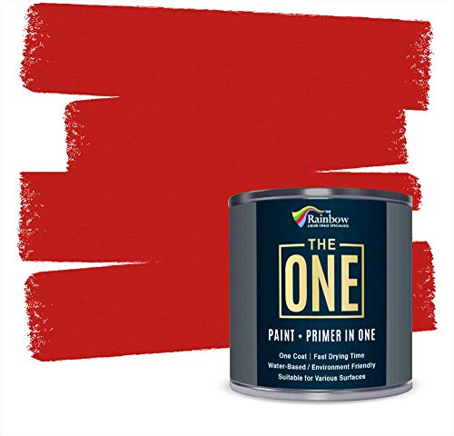 The One Paint - Satin Finish - Multi Surface Paint 250ml (Red)
