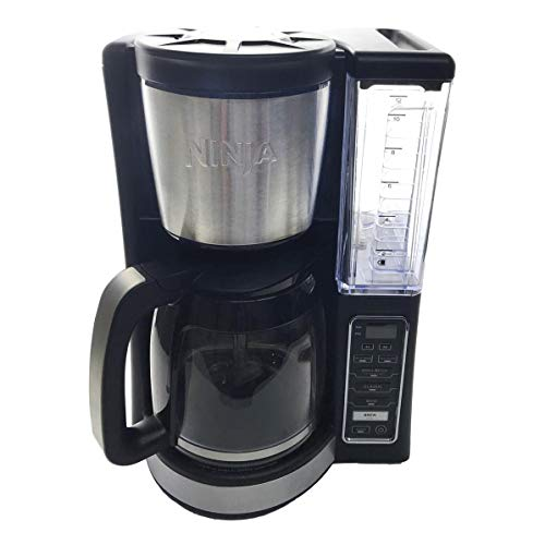Ninja CE200 12 Cup Programmable Coffee Maker with 60 Ounce Reservoir and Thermal Flavor Extraction, Black (Renewed)