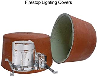 """Tenmat, 1 Hour UL Fire Rated Lighting Cover, Dimensions: Inside: 7.375""""H x 13"""" Diameter Overall: 8""""H x 14.25"""" Diameter, Material: Intumescent Material, Color: Black, Qty: 1"""