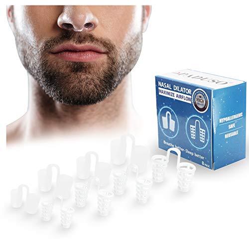 PADUSO | Schnarchen Stopper | Nasenklammer Anti Schnarch | Hilfsmittel Gegen Schnarchen | Geschlossene Nase | Schlafapnoe | Schnarchstopper Nase | Snoring Stopper | Nasenspreizer Silikon