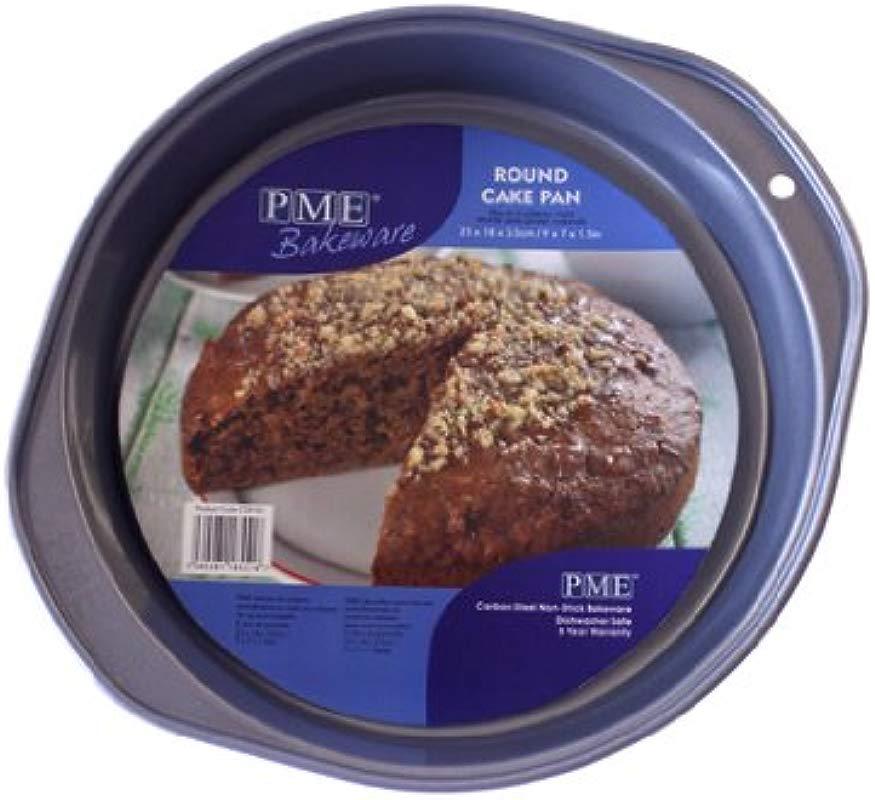 PME 9 X 7 X 1 5 Round Cake Pan Silver