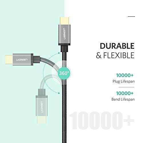 UGREEN USB C Cable Type C to USB A Fast Charger Nylon Braided Compatible for Samsung Galaxy S8 S9 S10 Plus Note 8 9, LG G8 G7 V40 V20 V30, GoPro Hero 7 6 5, Nintendo Switch, Motorola Moto G6 (3FT)