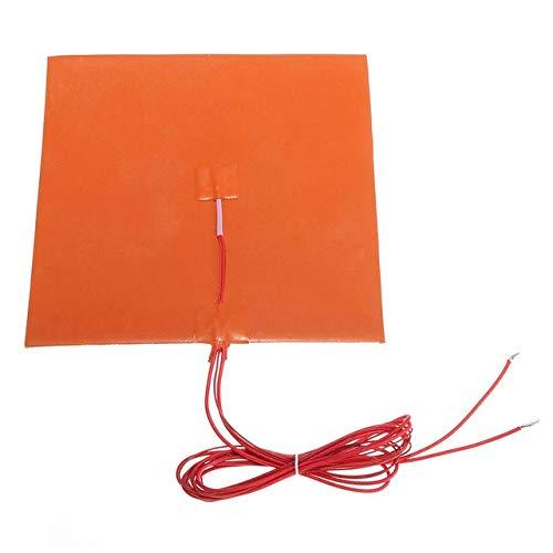 XBaofu 1PC 200W Silikon-Bett-Heizkissen Mat Temperatur Heizung mit Thermistoren 200x200mm (Größe : 12V)