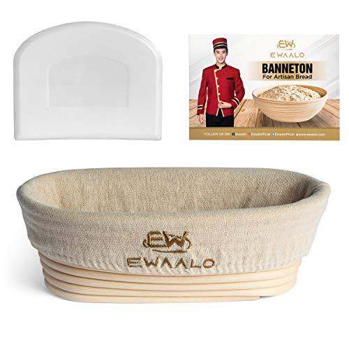 10 Inch Oval Banneton Proofing Basket Set  Bread Banneton Proofing Basket Oval  Bread Proofer  Sourdough Proofing Basket Bowl  Bread Baking Kit