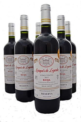 Marqués de Legarda Reserva 2015 Rioja Vino Tinto Caja de 6 botellas