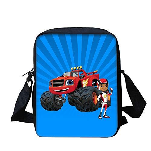 Blaze and The Monster Machines Light Stylish Shoulder Bag Travel Messenger Bag Trendy Design Crossbody Bag Active Casual Messenger Bags Fashion Classic Crossbody Bag Kids