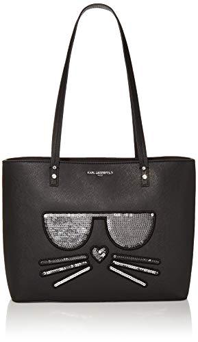 Karl Lagerfeld Paris Maybelle Tote, black sequins
