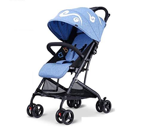 Babywagen- Kan zitten en liggen Lichtgewicht Vouwen Ultra-Licht Draagbare Kinderwagen Baby Paraplu auto, Lichtgewicht en Stevig Frame voor Soepele bediening en gemakkelijk dragen