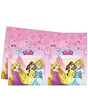 Procos - 85004-Mantel de plástico de Princesas Disney (Disney Princess Dreaming), 120x 180cm, color rosa