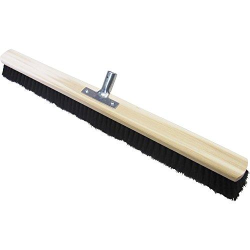Saalbesen mit Mischhaar-Borsten und Holzkörper | Metallstielhalter | 100 cm | ohne Stiel