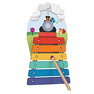 ORIBEL VertiPlay (Wall Toy) Xylophone Musical Rail Track, Wooden Toy and Nursery Room Decor   Easy to Install, Just Stick & Play