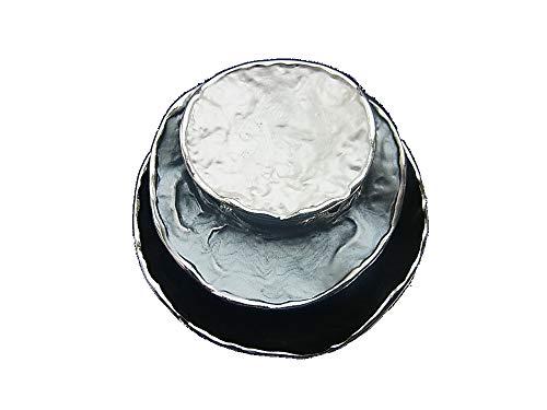 Brosche Magnetbrosche Schal Clip Bekleidung Poncho Taschen Stifel Textilschmuck Weiss - Grau - Schwarz