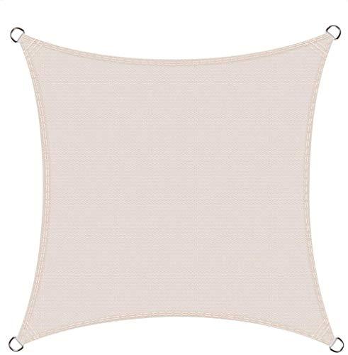 Jfs Square 2.5x2.5mSun Shade Sail, UV Block Patio Canopy in Color Cream,Cream,2.5x2.5m