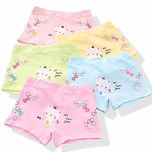 NFACE Cotton Coming Unterhosen für Mädchen,6er Pack Bequeme Mädchen Unterhosen Baumwolle Gemischte Kinder Unterwäsche Boxershorts 2-12 Jahre