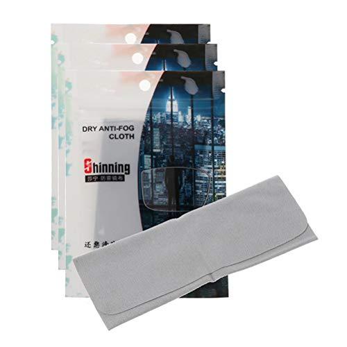 BSTQC Brillentuch, Antibeschlag-Tuch, 3 Stück, 15 x 15cm, Brillen-Anti-Beschlag-Tuch
