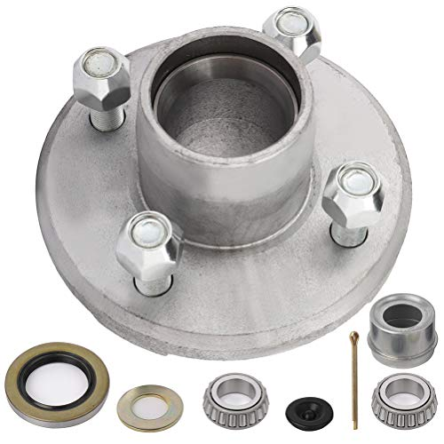 SCITOO Boat Trailer Hub with Galvanized Idler Hub 5 Lug on 4 1/2 Bolt Pattern 68149 x 44649 Bearing fit for 3500lb